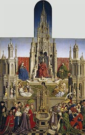 The Fountain of Grace and the Triumph of the Church over the Synagogue, 1430 von Jan van Eyck | Gemälde-Reproduktion