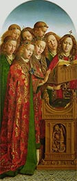 The Singing Angels (The Ghent Altarpiece), 1432 by Jan van Eyck | Painting Reproduction