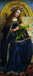 The Virgin Mary (The Ghent Altarpiece), 1432 von Jan van Eyck | Gemälde-Reproduktion