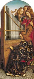 Angels Playing Music (The Ghent Altarpiece) | Jan van Eyck | Painting Reproduction