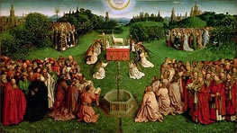The Adoration of the Mystic Lamb (The Ghent Altarpiece) | Jan van Eyck | Painting Reproduction