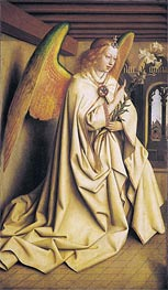 The Angel Gabriel passes the Message to Maria (The Ghent Altarpiece) | Jan van Eyck | Gemälde Reproduktion