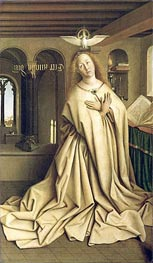 Virgin Annunciate (The Ghent Altarpiece) | Jan van Eyck | Gemälde Reproduktion