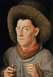 Man with Pinks | Jan van Eyck | Gemälde Reproduktion