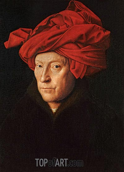 A Man in a Turban (Possibly a Self-Portrait), 1433 | Jan van Eyck | Gemälde Reproduktion