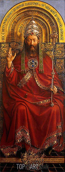 Christ, God the Father (Ghent Altarpiece), Undated | Jan van Eyck | Painting Reproduction