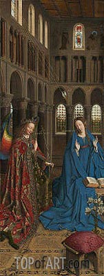 The Annunciation, c.1434/36 | Jan van Eyck | Gemälde Reproduktion