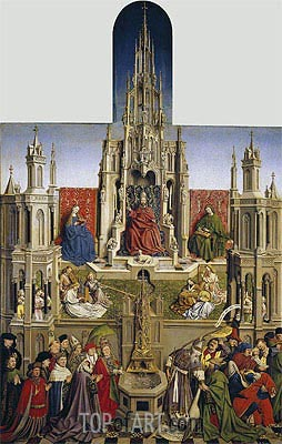 The Fountain of Grace and the Triumph of the Church over the Synagogue, 1430 | Jan van Eyck | Gemälde Reproduktion