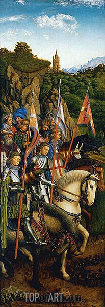 The Knights of Christ (The Ghent Altarpiece), 1432 | Jan van Eyck | Painting Reproduction