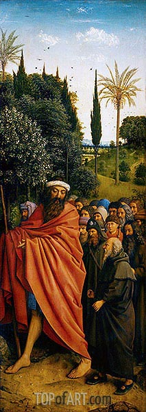 The Pilgrims (The Ghent Altarpiece), 1432 | Jan van Eyck | Painting Reproduction