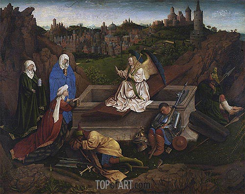 The Three Marys at the Tomb, c.1425/35 | Jan van Eyck | Painting Reproduction