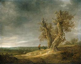 Landscape with Two Oaks, 1641 by Jan van Goyen | Painting Reproduction