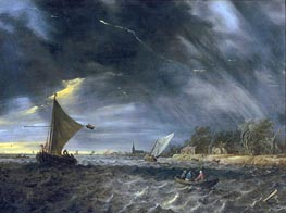 The Thunderstorm | Jan van Goyen | Painting Reproduction