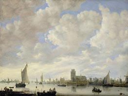 View of the Merwede off Dordrecht | Jan van Goyen | Painting Reproduction