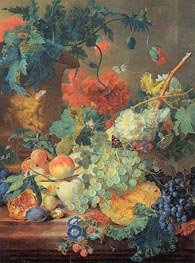 Fruit and Flowers, c.1720 by Jan van Huysum | Painting Reproduction