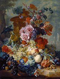 Fruit Piece, 1722 by Jan van Huysum | Painting Reproduction