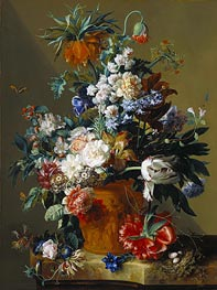 Vase of Flowers, 1722 by Jan van Huysum | Painting Reproduction