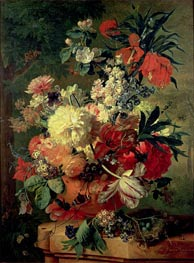 Flowers in a Vase, 1726 by Jan van Huysum | Painting Reproduction