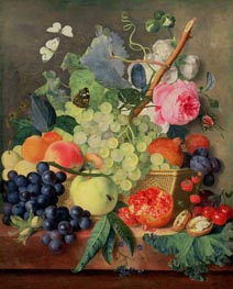 A Basket of Fruit, 1744 von Jan van Huysum | Gemälde-Reproduktion