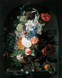 Bouquet of Flowers, undated by Jan van Huysum | Painting Reproduction