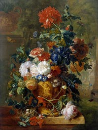 Flowers, 1722 by Jan van Huysum | Painting Reproduction