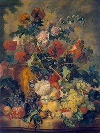 Flowers and Fruit | Jan van Huysum | Painting Reproduction