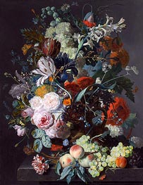 Still Life with Flowers and Fruit, c.1715 von Jan van Huysum | Gemälde-Reproduktion