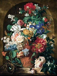 Still Life of Flowers, 1734 by Jan van Huysum | Painting Reproduction