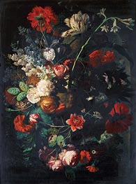 Vase with Flowers on a Socle | Jan van Huysum | Gemälde Reproduktion