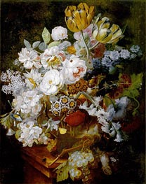 Still Life with Flowers, undated by Jan van Huysum | Painting Reproduction