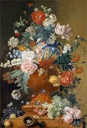 Flowers in a Terracotta Vase, undated von Jan van Huysum | Gemälde-Reproduktion