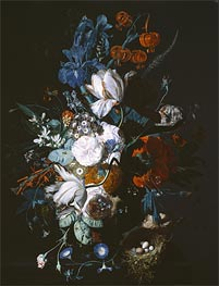 Vase with Flowers, c.1720 von Jan van Huysum | Gemälde-Reproduktion