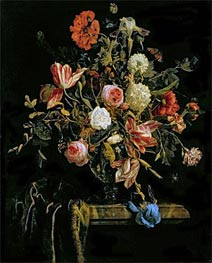 Flower Still Life, 1706 by Jan van Huysum | Painting Reproduction