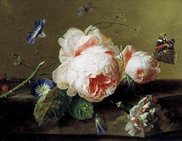 Still Life with Flowers and Butterfly, c.1735 von Jan van Huysum | Gemälde-Reproduktion