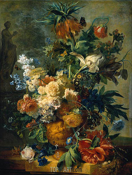 Still Life with Flowers, 1723 | Jan van Huysum | Painting Reproduction