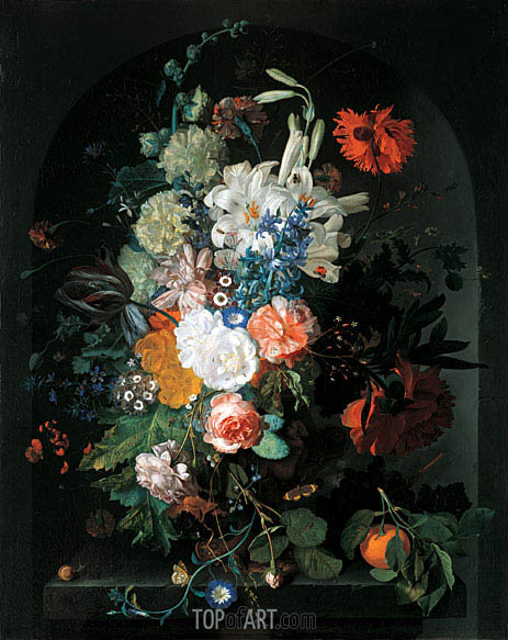 Bouquet of Flowers, undated | Jan van Huysum | Painting Reproduction