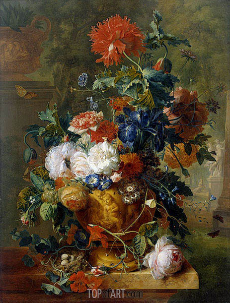 Flowers, 1722 | Jan van Huysum | Painting Reproduction