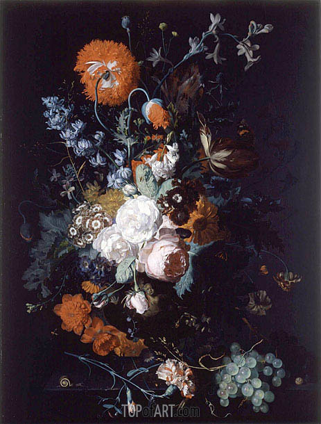 Still Life of Flowers and Fruit, c.1716/17   Jan van Huysum   Painting Reproduction