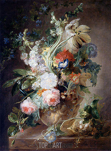 Vase with Flowers, undated | Jan van Huysum | Gemälde Reproduktion