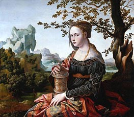 Mary Magdalene, c.1530 by Jan van Scorel | Painting Reproduction