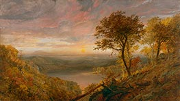 Greenwood Lake, 1870 by Jasper Francis Cropsey | Painting Reproduction