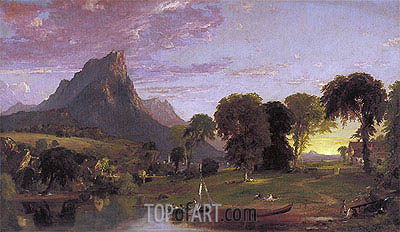 View near Sherburne, Chenango County, New York, 1853 | Jasper Francis Cropsey | Painting Reproduction
