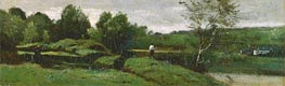 Landscape with a Boy in a White Shirt | Corot | Gemälde Reproduktion