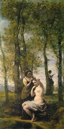 La Toilette (Landscape with Figures) | Corot | Painting Reproduction