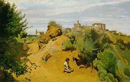 The Goat-Herd of Genzano | Corot | Painting Reproduction