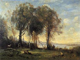 Goatherds on the Borromean Islands | Corot | Painting Reproduction
