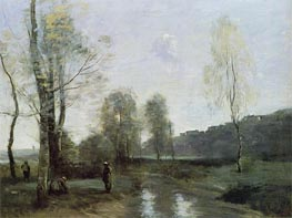 Canal in Picardi | Corot | Painting Reproduction