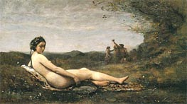 Repose, 1860 by Corot | Painting Reproduction