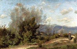 In the Vicinity of Geneva, c.1845/50 by Corot | Painting Reproduction