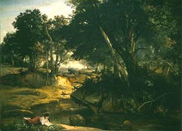Forest of Fontainbleau, 1834 by Corot | Painting Reproduction